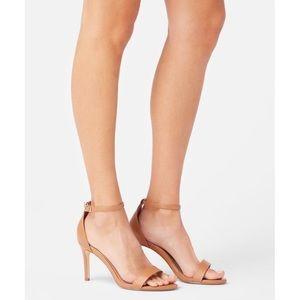 Seidra Almond Cognac Tan Classic Heeled Sandal